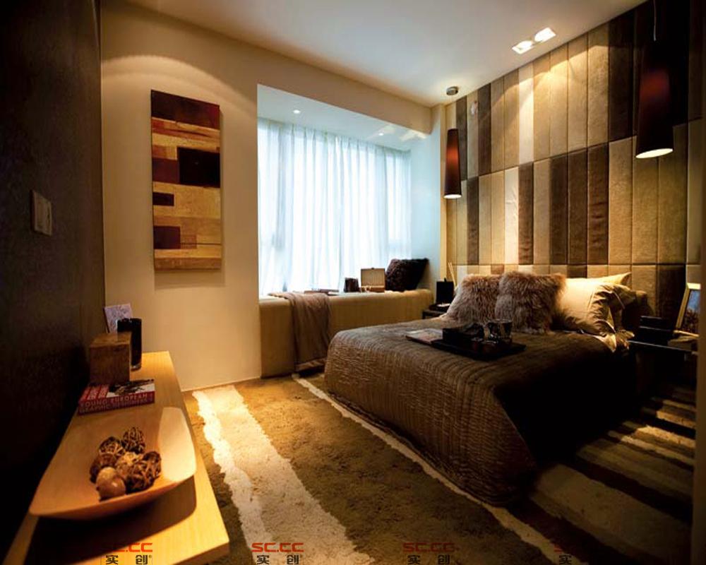 简约 三居 港式 现代 时尚 卧室图片来自成都实创装饰在爱家客的分享