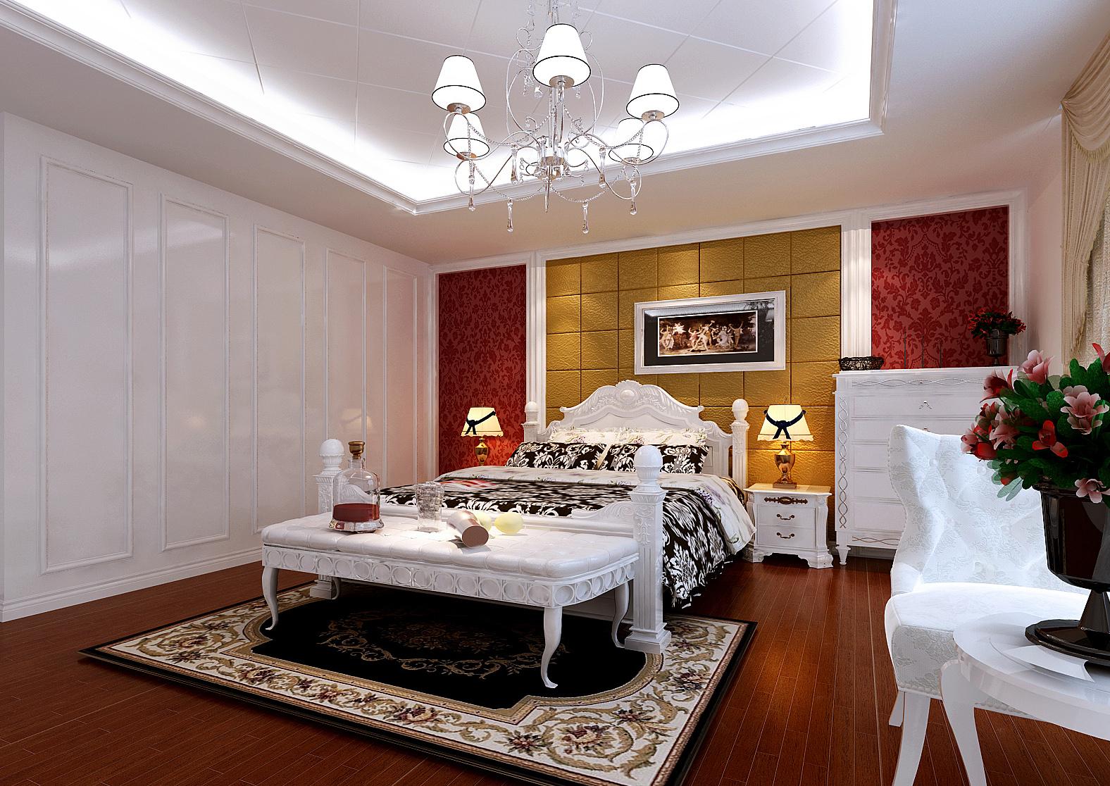 欧式 三居 白领 收纳 80后 小资 卧室图片来自实创装饰百灵在115平时尚温馨欧式风格三居室的分享