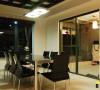 名雕装饰设计-纯水岸三居室文艺雅居-餐厅