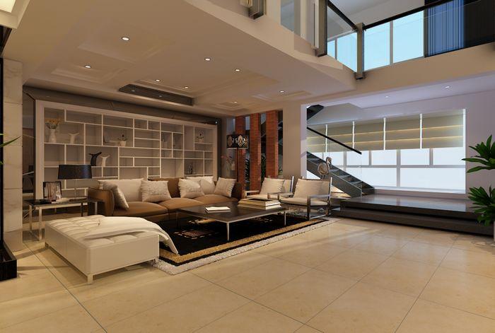 简约 复式 装修效果图 龙发装饰 时尚设计 客厅图片来自龙发装饰集团西安分公司在紫薇尚层-简约不简单的品质设计的分享