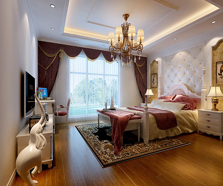 欧式 别墅 白领 收纳 80后 小资 卧室图片来自实创装饰百灵在观湖国际140平米欧式风格的分享