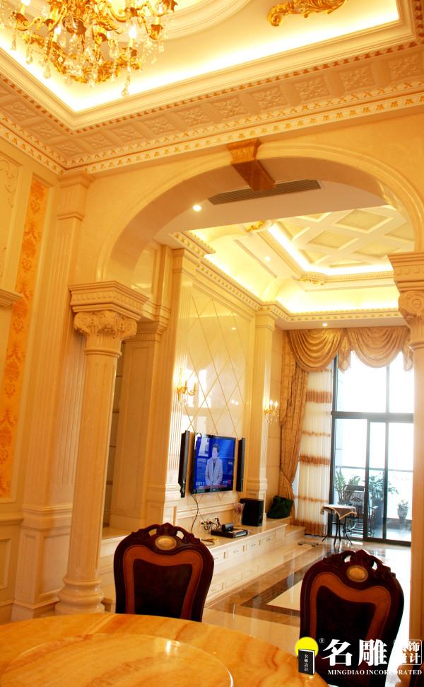 名雕装饰-宏发领域三居室-简欧风格-客厅