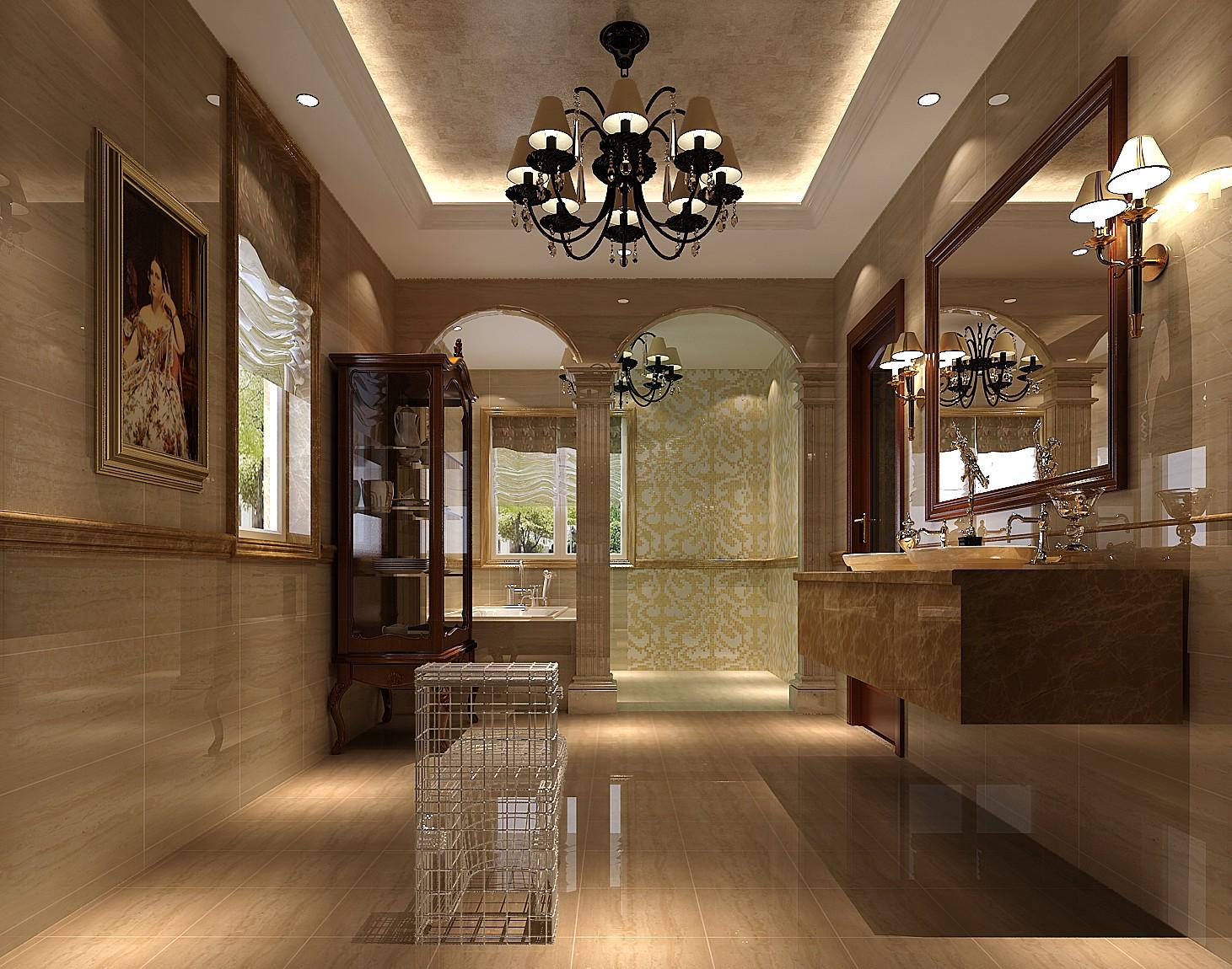 高度国际 保利垄上 独栋别墅 欧式 卫生间图片来自高度国际在独栋别墅450平米欧式风格的分享