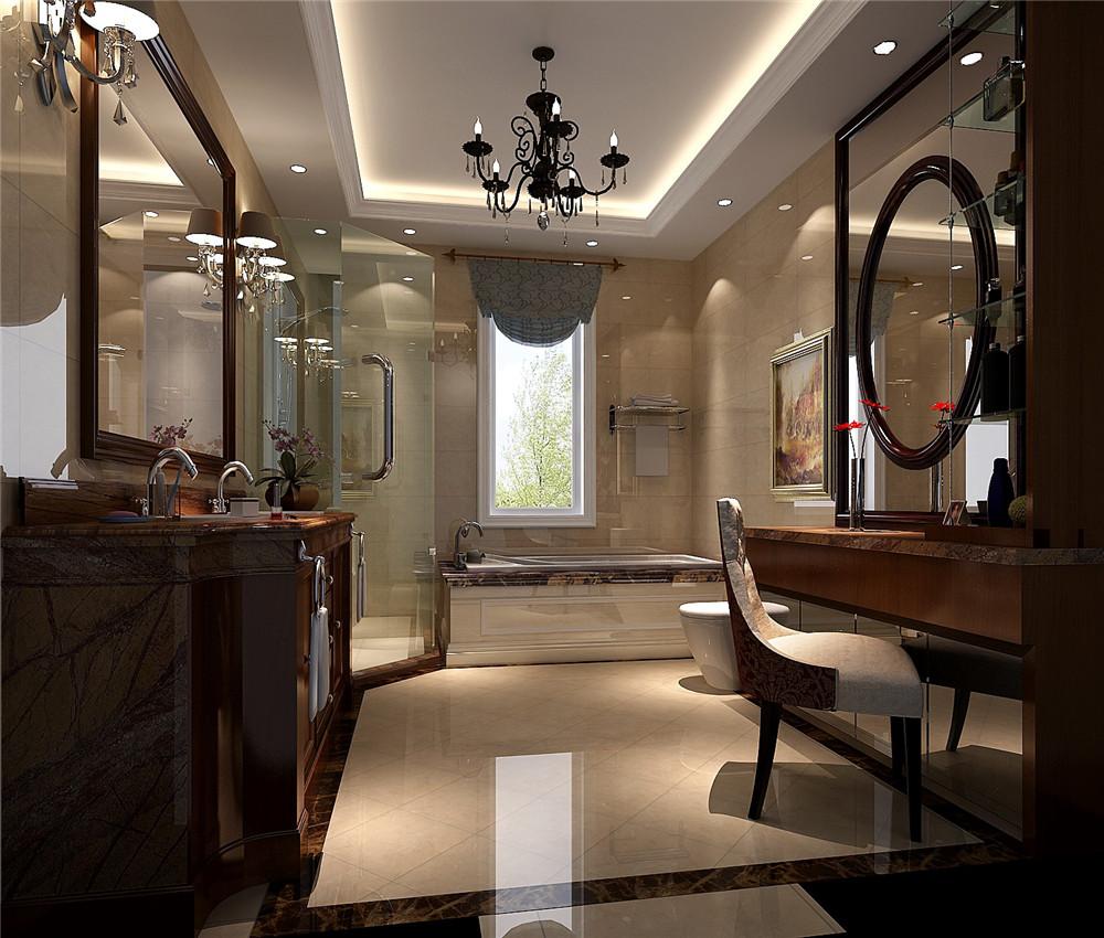 卫生间图片来自专业别墅设计工作室在托斯卡纳风格别墅装修的分享