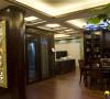 名雕装饰设计-东方尊峪三居-现代中式餐厅一角