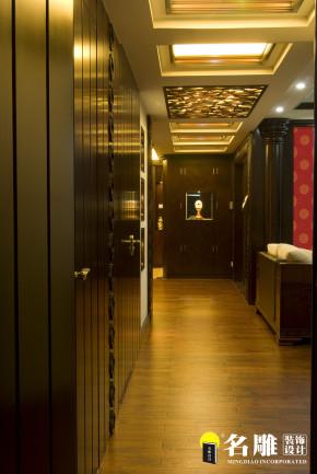 中式 三居 文艺青年 东方雅居 名雕装饰 东方尊峪 玄关图片来自名雕装饰设计在现代中式-200平三居室东方雅居的分享