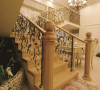 名雕装饰设计-纯海岸复式楼阁-欧式楼梯
