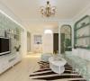 客厅整体基调清新明快,简洁的线条轮廓,精致的线条勾勒,整体大气而精致。