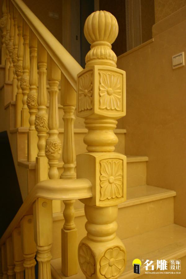 名雕装饰设计-宏发领域复式楼阁-简欧风格楼梯
