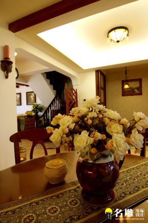 美式 别墅 自然 居家 名雕丹迪 高富帅 楼梯图片来自名雕丹迪在美式风情-220平硅谷别墅自由空间的分享