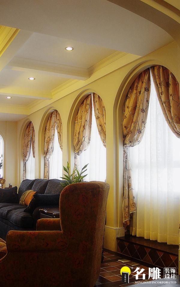 名雕装饰设计-中信红树湾三居室-地中海风格窗户