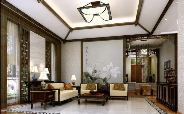 客厅设计简洁明了,整体留白
