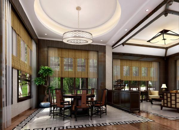 餐厅设计天方地圆中国的古典文学在无形中得以体现