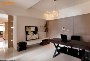 简约 舒适 旧房改造 白领 现代 四居 书房图片来自幸福空间在360m²两户变一家 舒适气质家的分享