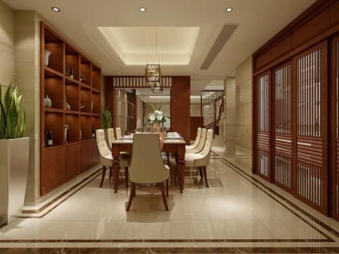 郑州中力七里湾装修设计案例赏析-餐厅
