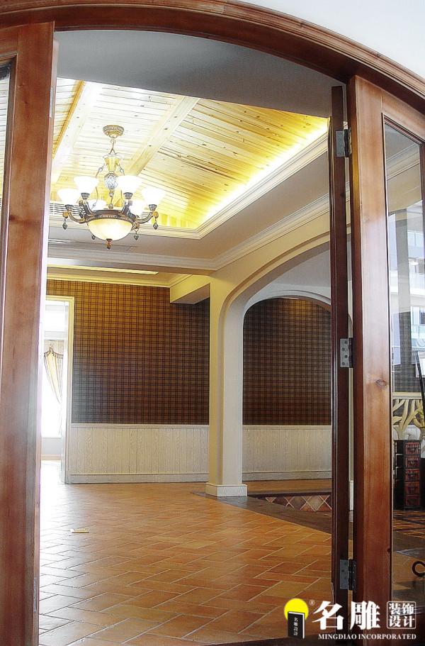 名雕装饰设计-中信红树湾三居室-地中海风格玄关