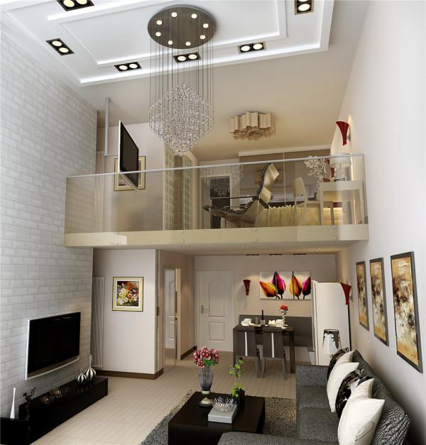 客厅后现代设计理念:客厅顶部喜用大型灯池,并用华丽的枝形水晶吊灯营造气氛。后现代风格装饰的房间仍选用线条简洁,所以沙发背景墙选用看上去比较厚重的艺术毛石,才能与之匹配烘托奢华效果。