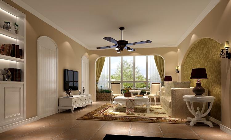 客厅图片来自沙漠雪雨在长滩壹号138平田园风格3居的分享
