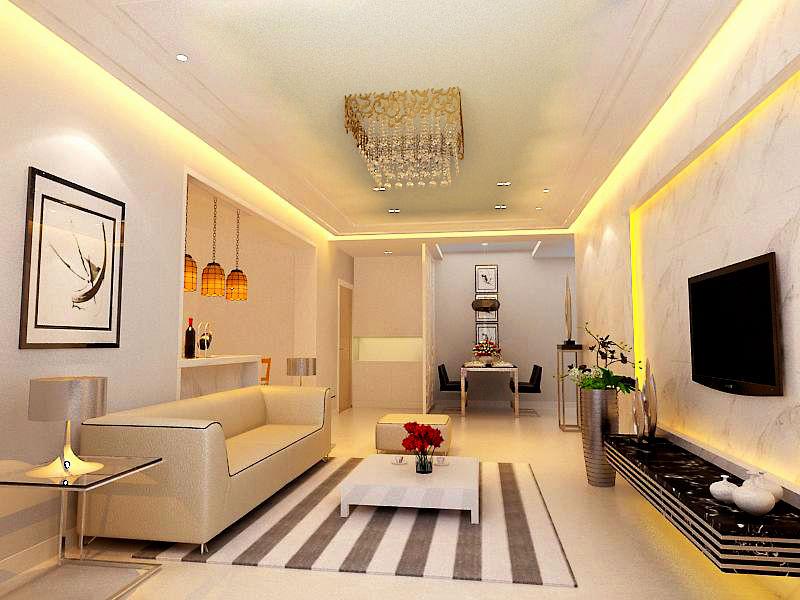 简约 二居 客厅 卧室 105平装修 装修报价 客厅图片来自实创装饰都琳在8.5万元打造105平米温馨三口之家的分享