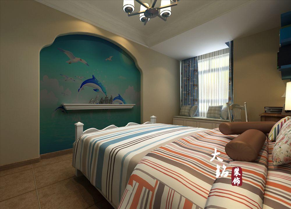 地中海 四居 白领 80后 小资 卧室图片来自大铭装饰设计工程有限公司在清华大溪地小区地中海风格设计的分享