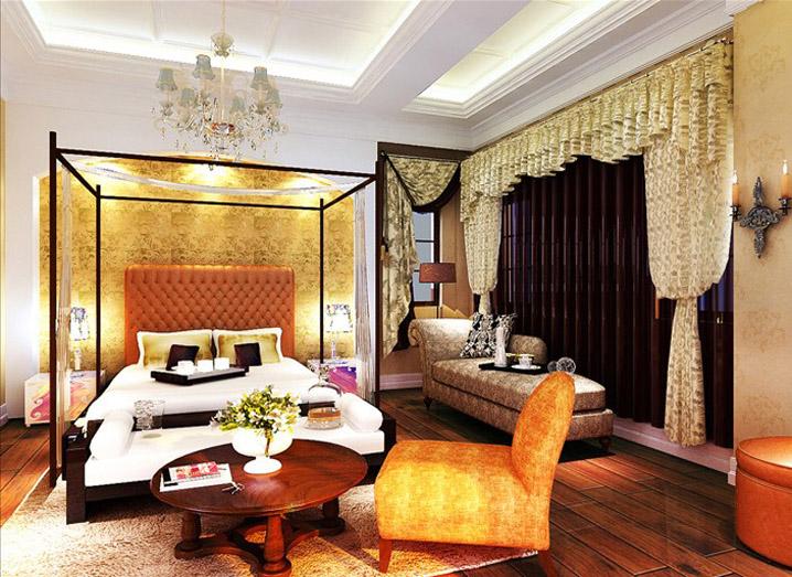 欧式 简约 别墅 家居 生活 风水 家庭装修 室内设计 报价 卧室图片来自曹丹在现代-使整个空间高贵不失典雅。的分享