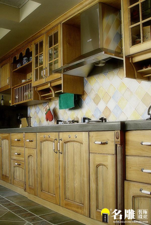 名雕装饰设计-中信红树湾三居室-地中海风格厨房