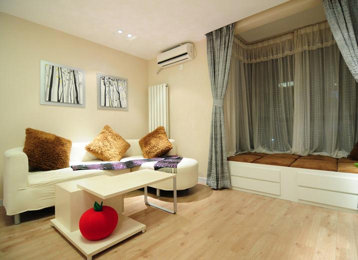 简约 一居室 客厅图片来自实创装饰上海公司在一居室现代简约风格装修实景图的分享