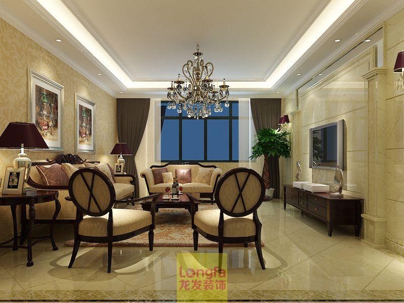 鼎盛时代 三室两厅 龙发装饰 现代简约 欧式风格 别墅装修 婚房装修 客厅图片来自上海华埔装饰赵孟阳在鼎盛时代三室两厅现代风格设计的分享
