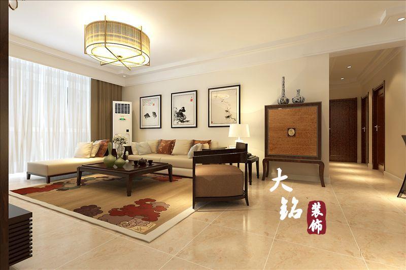 三居 白领 80后 中式 客厅图片来自大铭装饰设计工程有限公司在升龙国际新中式风格装修的分享