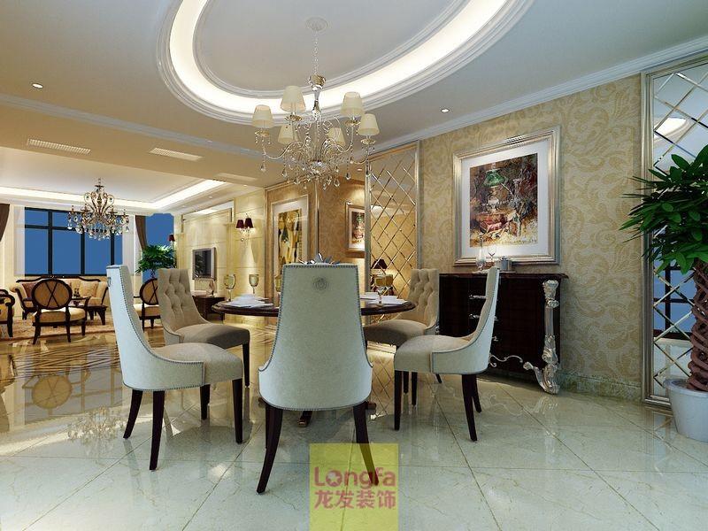 鼎盛时代 三室两厅 龙发装饰 现代简约 欧式风格 别墅装修 婚房装修 餐厅图片来自上海华埔装饰赵孟阳在鼎盛时代三室两厅现代风格设计的分享
