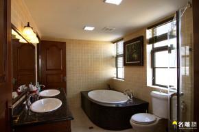美式 别墅 自然 居家 名雕丹迪 高富帅 卫生间图片来自名雕丹迪在美式风情-220平硅谷别墅自由空间的分享