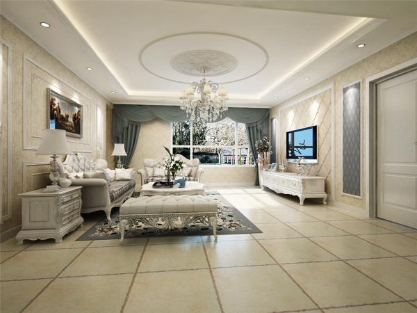 客厅电视背景墙:简欧风格多以象牙白为主色调,以浅色为主深色为辅。客厅沙发背景墙:欧式风格组合沙发尽显大气,平整的天花板吊顶搭配精致的水晶灯,奢俭有度。落地灯又带来一丝复古的气息。
