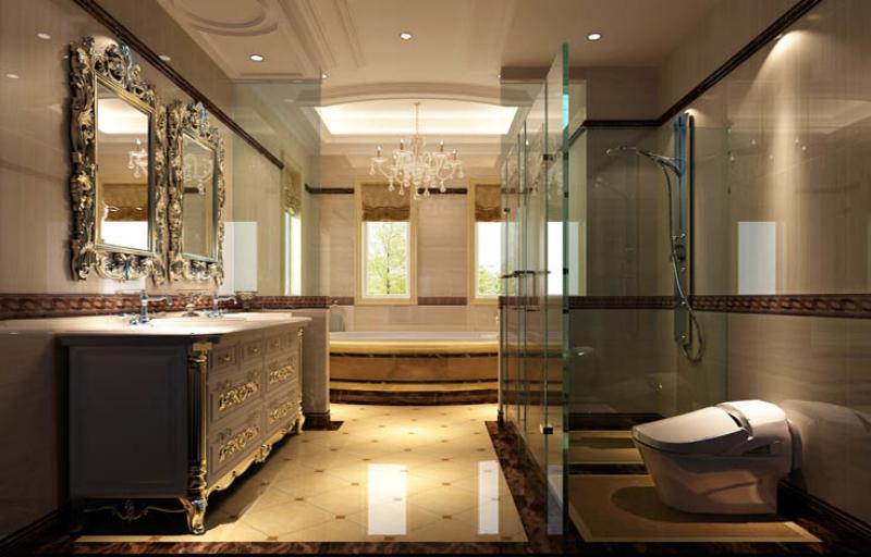 欧式 新古典 美观 气派 舒适 温馨 卫生间图片来自北京高度装饰设计王鹏程在中海尚湖世家欧式新古典风格的分享