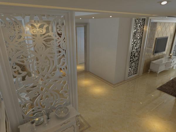 客厅雕花的隔断,给室内增添了一些特色,是的空间没有那么的空旷