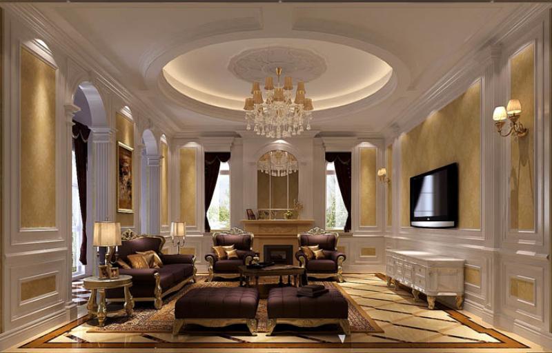 欧式 新古典 美观 气派 舒适 温馨 客厅图片来自北京高度装饰设计王鹏程在中海尚湖世家欧式新古典风格的分享