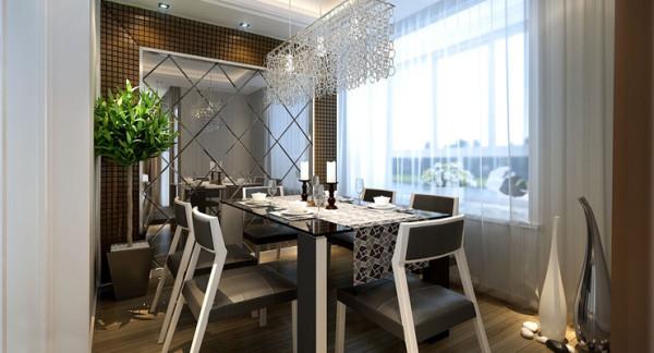 客餐厅主体色调为暖色,干净明亮。