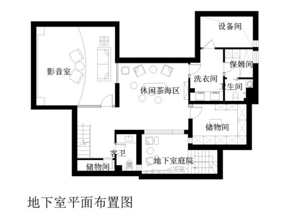 地下室平面布局图