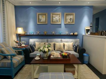 唤醒生活的蓝色 80平地中海婚房