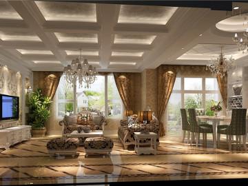 鲁能七号院180平米简欧装饰设计
