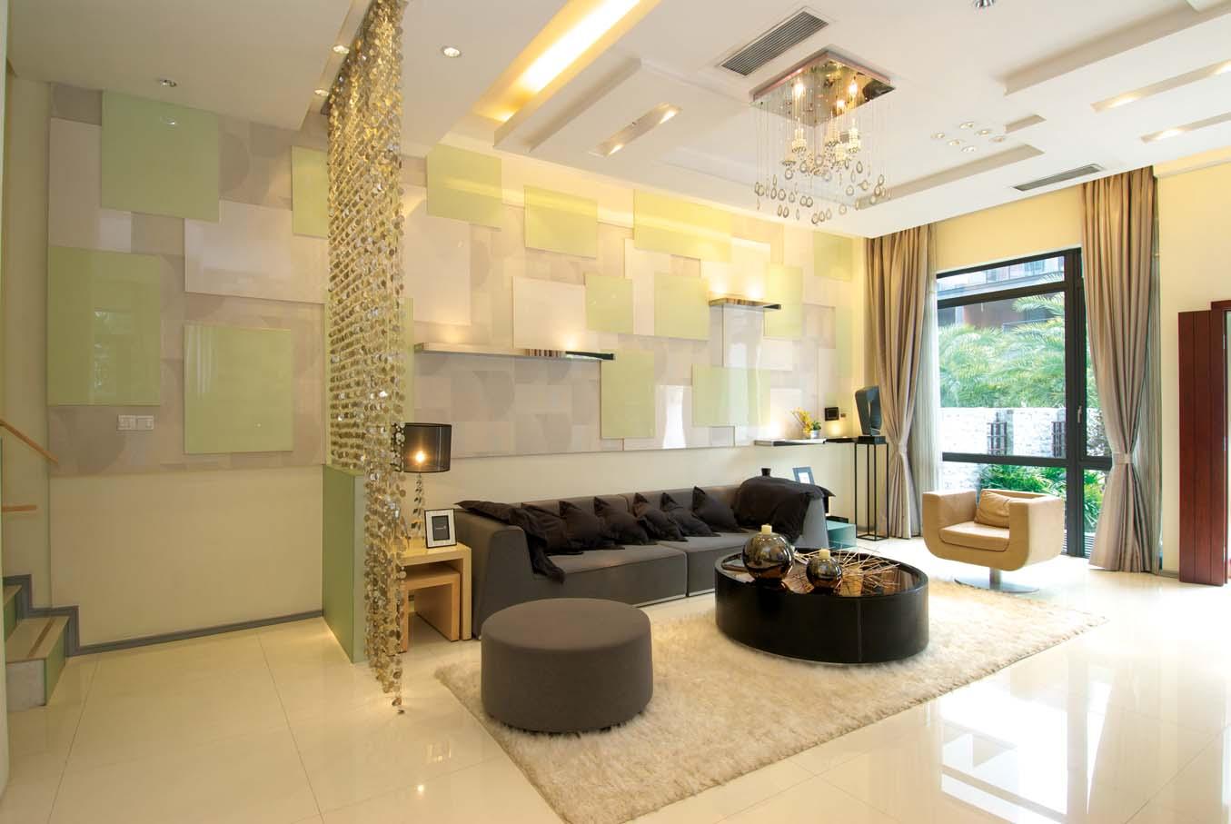 客厅图片来自成都龙发装饰公司在置信牧山丽景 现代风格设计的分享