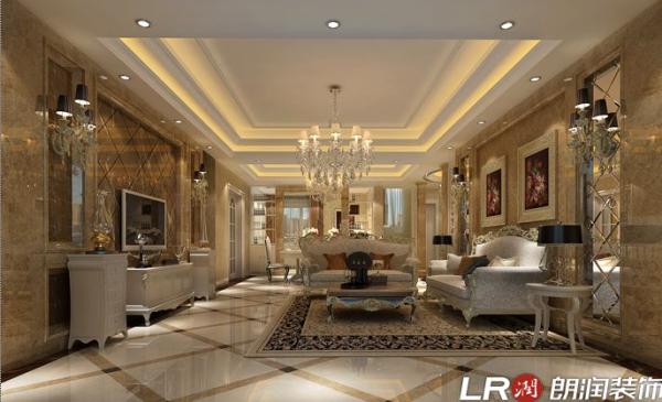 成都ICC-三居室-159平米-客厅装修设计
