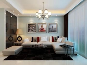 华地紫园89平米现代简约风格
