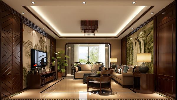 现在的中式风格更多地利用了后现代手法,把传统的结构形式通过重新设计组合以另一种民族特色的标志符号出现。中式与西式风格相结合的客厅具有内蕴的风格,并且不缺乏时尚感