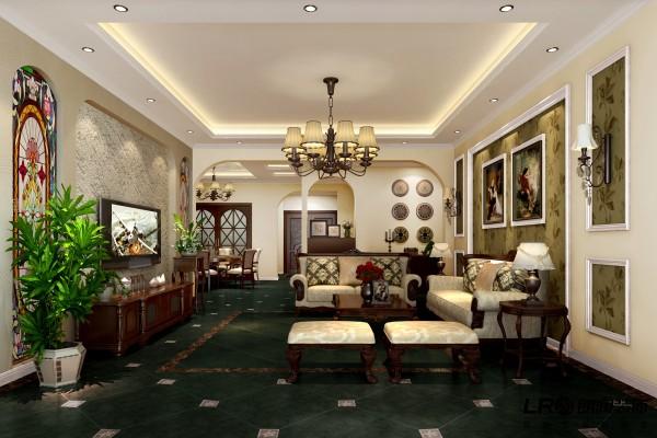 客厅做了另一个色彩的修改,不同色调完全不同的味道,所以家庭装修的色彩搭配是最最重要的。