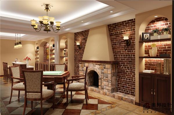 客厅壁炉设计