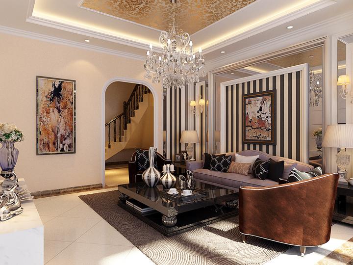欧式 三居 成功人士 品味 客厅图片来自南京实创装饰夏雨荷在成功企业家的品味格调的分享