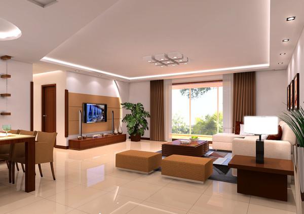 此户型采用时尚的现代设计风格。客户买的二手房,原有是公司办公用房,客户三口人居住,根据客户的家庭情况,把一小居室的部分隔成独立的储藏间,另一半改为步入式衣帽间保留主卧室