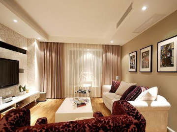 现代简约-95平米二居室装修设计
