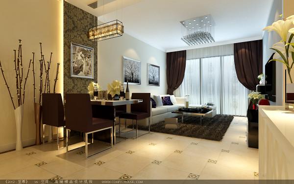 客厅是主人品味的象征,体现了主人品格,地位,也是交友娱乐的场合,电视背景墙采用石膏板做的四个几何造型,既简单又大方。