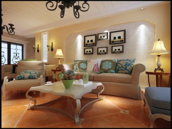 客厅;客厅背景墙载满了对家幸福的渴望
